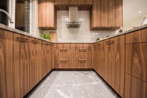 Kitchen walnut woodgrain